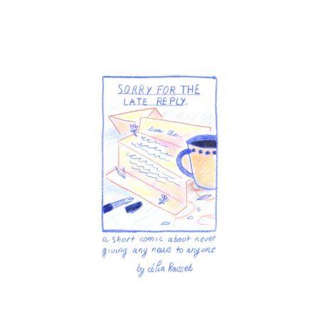 Bande dessinée en anglais sur le thème des problèmes de communication. on y parle de difficulté à répondre aux messages et de besoin de s'isoler pour réfléchir à une situation. Fait à strasbourg en 2019 par Célia housset
