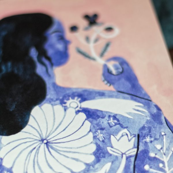 Illustration Inktober - La Fleur