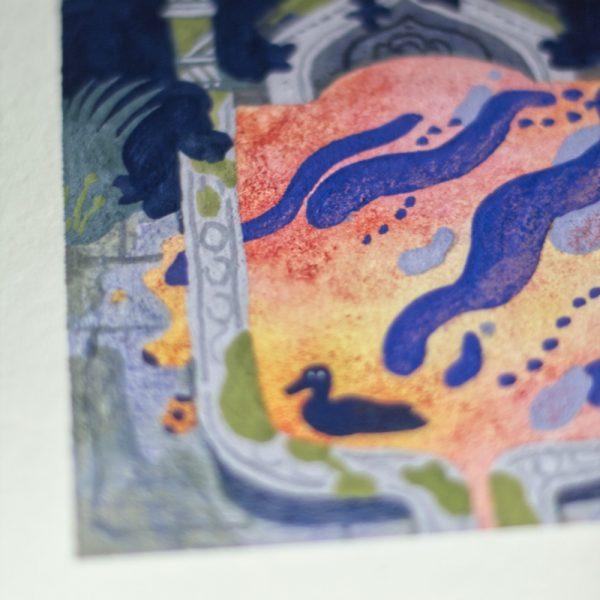 Illustration - La Fontaine aux canards - Entre chiens et loups
