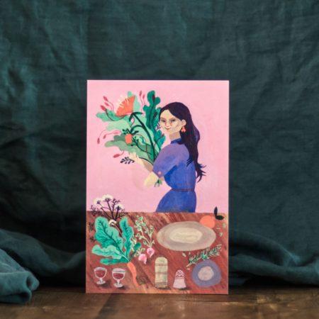 Retour du marché - Délices d'hiver Exposition d'illustrations originales et marché d'artisanat - Célia Housset